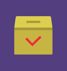 Ballot box vote for president vector