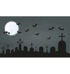 Bats and cemetery vector