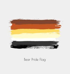 bear lgbt watercolor flag vector image