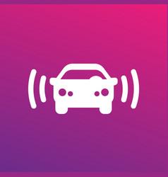 car alarm icon sign vector image