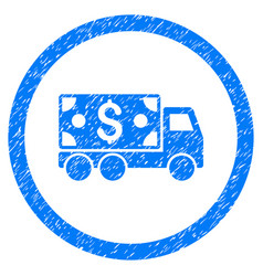 cash delivery rounded grainy icon vector image