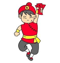 Character with red clothes collection vector