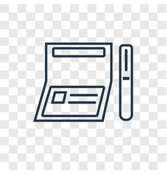 checkbook concept linear icon isolated on vector image