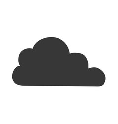 Cloud weather pictogram vector