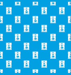 coffee machine pattern seamless blue vector image