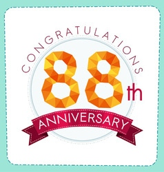 colorful polygonal anniversary logo 3 088 vector image