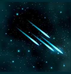 comet in starry sky vector image