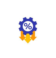 Cost optimization efficiency flat icon vector