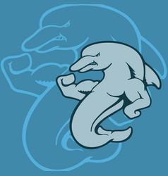Dolphin mascot character animal cartoon character vector