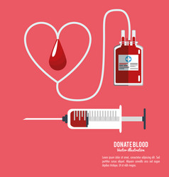 donate blood equipment care vector image