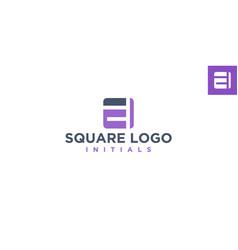 E square logo design inspiration vector