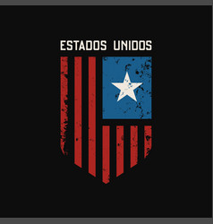 estados unidos t-shirt and apparel design vector image