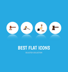 flat icon court set of defense government vector image