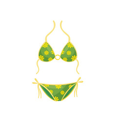 flat icon green two-piece swimsuit vector image