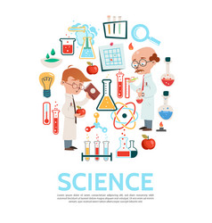 Flat science round concept vector