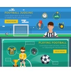 Football Banner Set vector