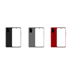 Front and back side new model galaxy smartphone vector