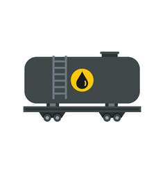 gasoline railroad tanker icon flat style vector image