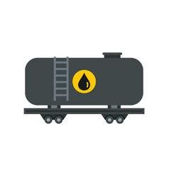 Gasoline railroad tanker icon flat style vector