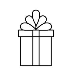 gift box ribbon linear bow vector image