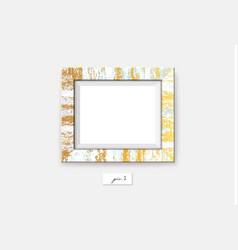 golden marble frame on the wall vector image