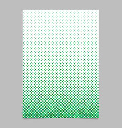 Green dot pattern brochure background vector