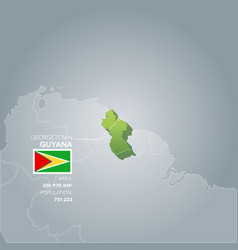 Guyana information map vector