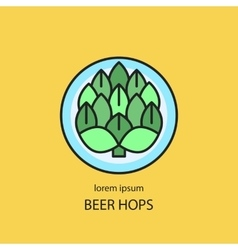 Hop cones craft beer vector