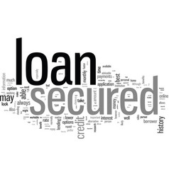 Is a secured loan right for you vector