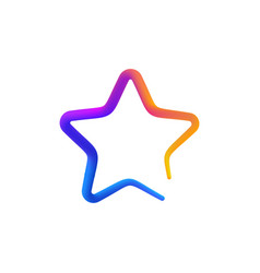 isolated rainbow gradient colorful star logo on vector image