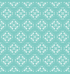 Jade ornamental swirl background with off white vector