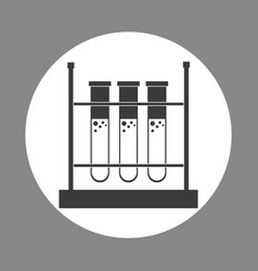 Laboratory test tube rack chemistry dark design vector