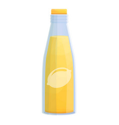 Lemonade bottle icon cartoon style vector