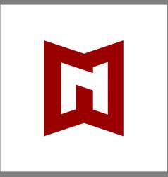 letter initial n logo design template vector image