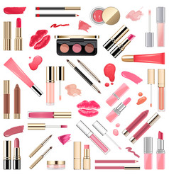 lips makeup cosmetics vector image