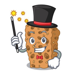 Magician granola bar mascot cartoon vector