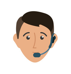 man call center vector image