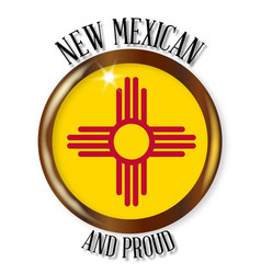 new mexico proud flag button vector image