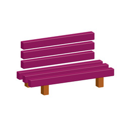outdoor park wooden bench 3d icon vector image
