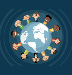 people from the internet community vector image