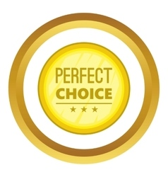 Perfect choice label icon vector