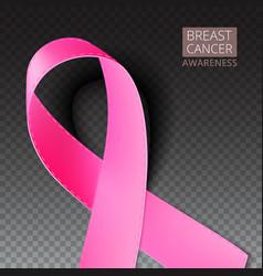 Pink breast cancer awareness ribbon vector image