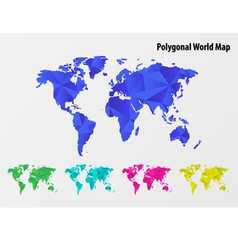 Polygonal mosaic World Map vector