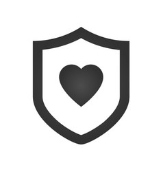 protection shield with heart flat vector image