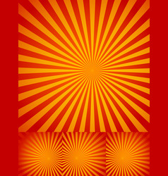 Rays or starburst backgrounds vector