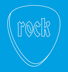 rock stone icon outline style vector image
