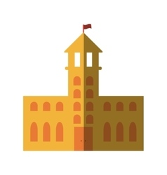 school building place isolated icon vector image