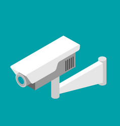 security camera isometric flat vector image