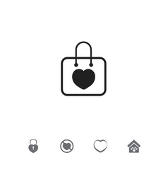 set of 5 editable love icons includes symbols vector image