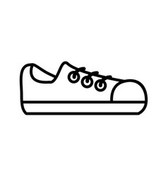 shoe male isolated icon vector image